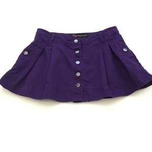 Married to The Mob Purple Button Down Skirt Small